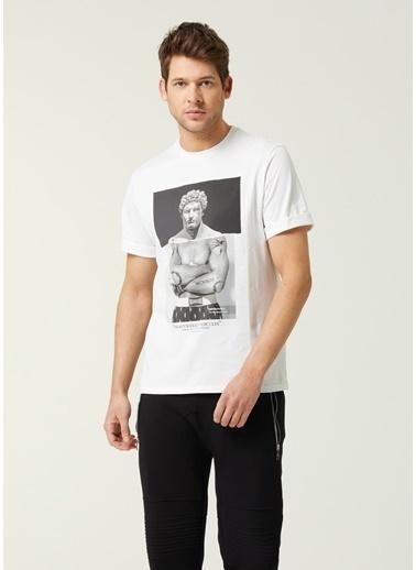 Neil Barrett Neil Barrett  Figür Baskılı T-shirt 101633718 Beyaz